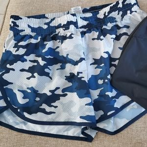 Athletic Works Running Shorts Camo&Black